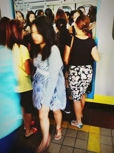 The Journey Is The Destination On The Way Rushmorning Transportation Trainphotography Women At Work Strong Women Independent Women In And Out Push And Pull Forces Daily Commute Daily Life Office Fashion Open And Close Strong And Weak Compartment Filipina Philippines