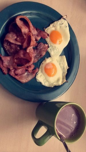 Breakfast🍳🥓 Egg And Bacon First Eyeem Photo