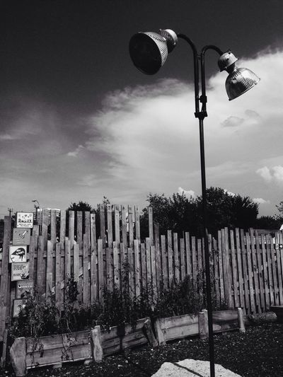 Lantern Black And White Sky And Clouds I ❤ BERLIN