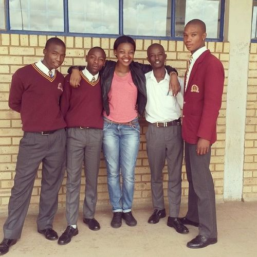 """""""Be the change you want to see in the world"""" AGOFethos YouthManagers Schoolvisit MyBoys futureleaders yesterday Soweto"""
