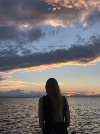 Fine Days Vermont Water Sky One Person Sea Cloud - Sky Sunset Women Leisure Activity Hair Long Hair Nature