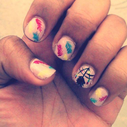 Dream Catcher Nails ♡ Nails Nailart  Dreamcather Nailpolish