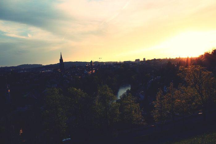 Bern Sunset Nature Cityscape
