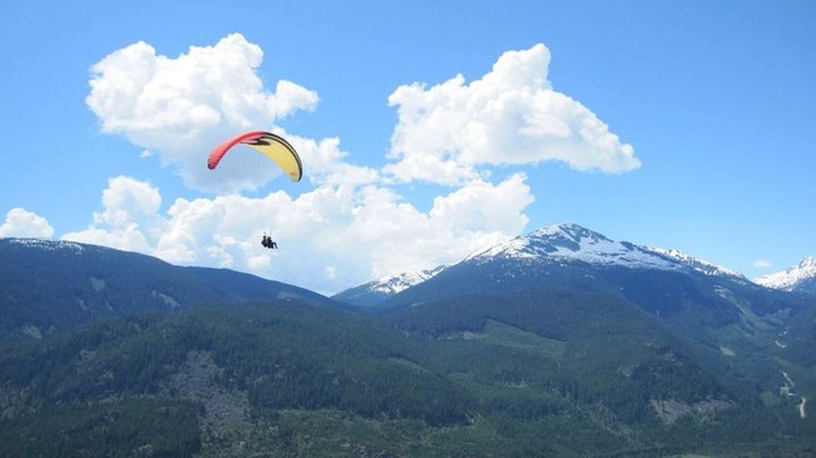 Travel Paragliding #Bestfriends  Whistler Beautiful British Columbia Mountains Learning To Fly No Fear