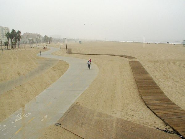 Bikes in SoCal Bikes Bike Biking Pathways Sand Brown Beach California USA Outdoors SoCal Beachlife Overcast AnotherSunnyDay CA Day People Sky Ocean Pacific Ocean 2Birds Wide Open Spaces California Dreamin