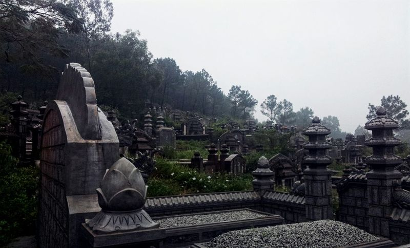 Rainy Day Smalltown Passover Hue's Martyrs Cementery Grandparent Reunion