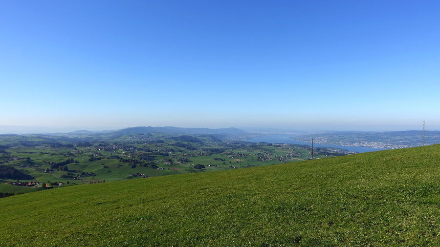 Agriculture Cityscape Zürich Zürichsee Beauty In Nature Day Field Grass Green Color Growth Lake Lake View Landscape Mountain Mountain Range Nature No People Outdoors Rural Scene Scenics Sky Tranquil Scene Tranquility Travel Destinations Zurich, Switzerland