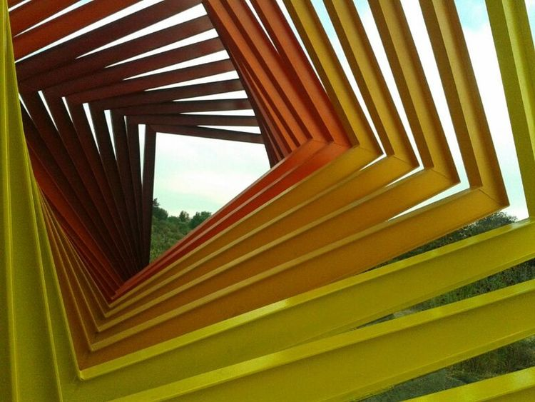 Art A Frame Within A Frame Yellow Amarillo