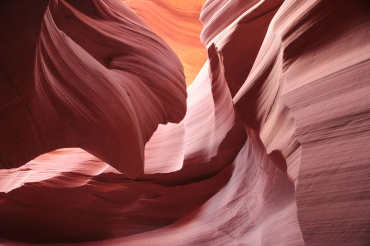 Antelope Canyon Rock Formation Rock - Object Rock Solid Canyon Sandstone Travel Destinations Geology Physical Geography Beauty In Nature Eroded Travel No People Tranquility Non-urban Scene Pattern Natural Pattern Nature Full Frame Day Arid Climate Climate