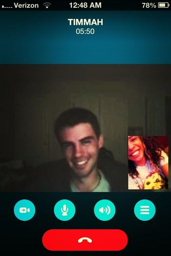 Another Skype Call With My Favorite Cousin Lol :)