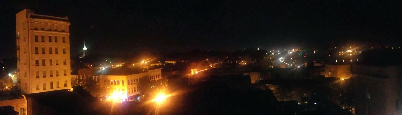 Coastalnc Capegearriver Downtownwilmington Rooftopviews Night Illuminated Reflection No People Outdoors City Water