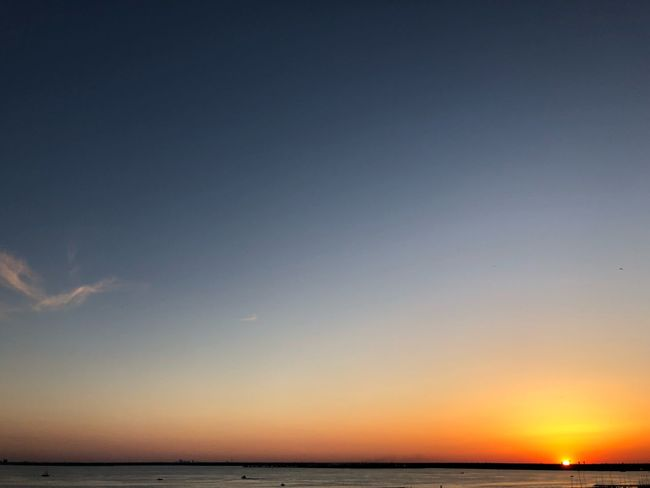 Clear sky sunset Sky Water Sea Scenics - Nature Beauty In Nature Tranquility Tranquil Scene