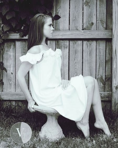 Miranda Jane Model Backyard Photo Beautiful Black & White Girl JustMe Posing for You