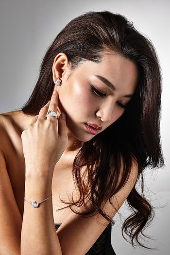 Advertisement I shot of Kate Tsui's new jewelry line. Katetsui Porrtraiture Jewelry