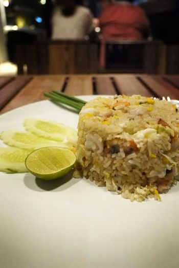 Food And Drink Food Close-up Healthy Eating Serving Size Ready-to-eat Plate Indoors  Fried Rice With Crab
