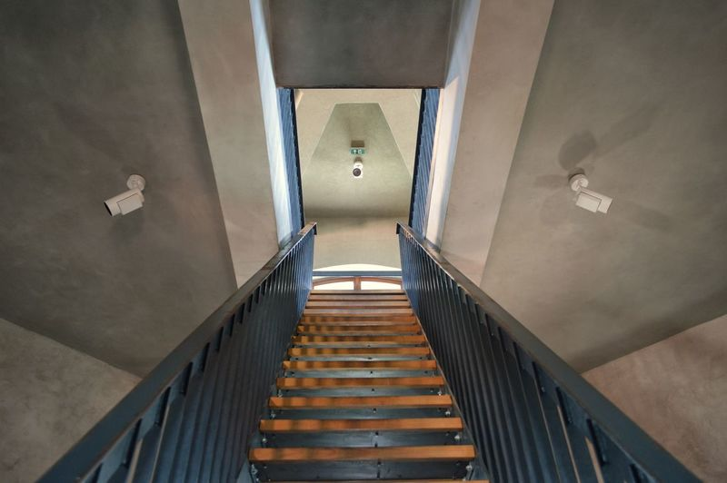 Absence Architectural Detail Architectural Feature Architecture Building Built Structure Ceiling Day Direction Directly Above Empty High Angle View Illuminated Indoors  No People Railing Staircase Steps And Staircases The Way Forward Wall - Building Feature