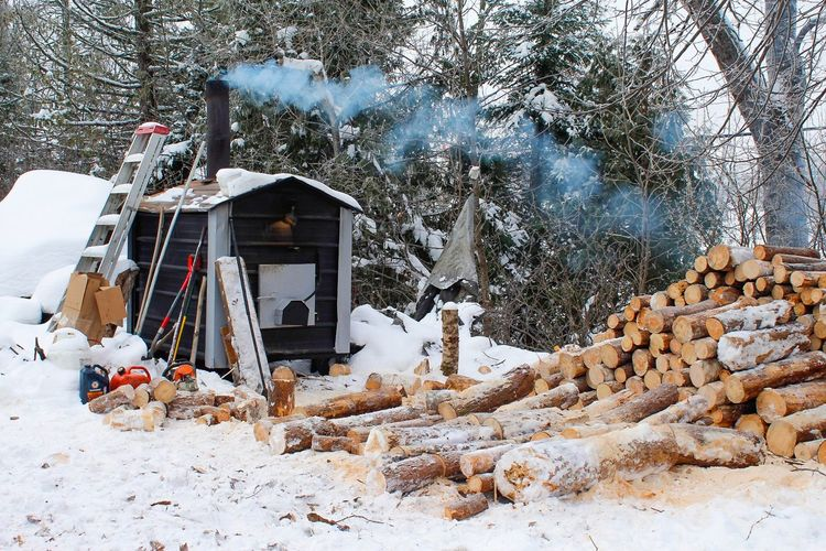 Working heat source Fire Wood Burning Heat Source Pine Tree Art In Photography EyeEmNewHere Eyemphotography Creativity Has No Limits Winter Snow Cold Temperature Tree Built Structure Building Exterior Architecture