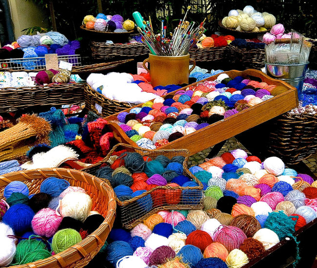 Art And Craft Basket Choice Choices Collection Colourful Creativity Day For Sale Gig Economy Handcraft Knitting Knitting Wool Large Group Of Objects Multi Colored No People Retail  Variation Wool Balls Presentation Background