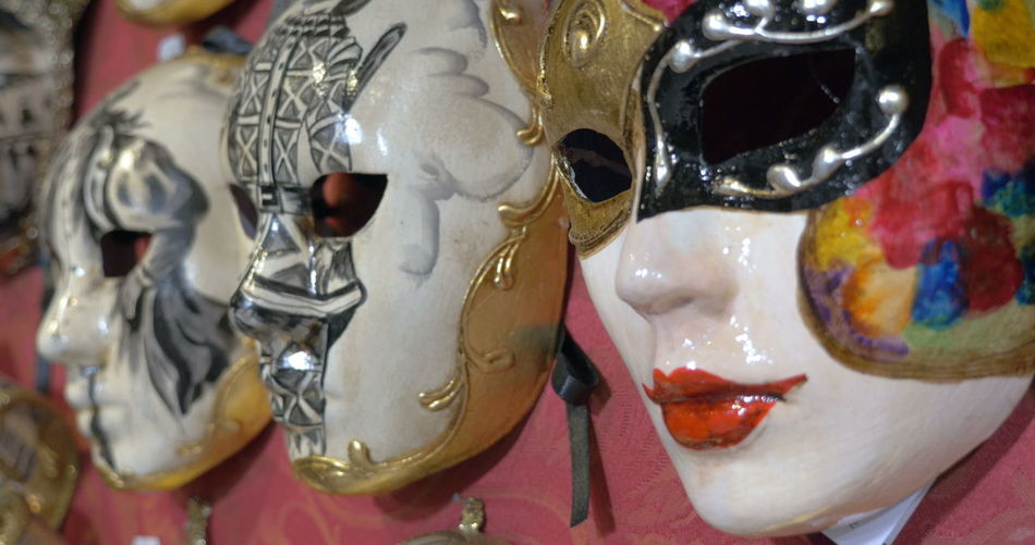 Close-up of multi colored mask