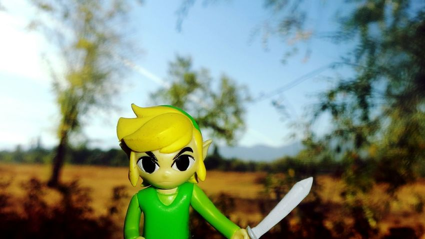 Human Face Yellow Focus On Foreground Human Representation Close-up Day Human Face Outdoors Representation Green Color Countryside Mask - Disguise Link Zelda Zeldafan Videogames Nintendo Nature Trees Focus Macro
