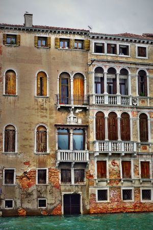 Canal Grande 05 Architecture Balcony Building Exterior Built Structure Canal Grande Day Facade Building Facade Detail Ghotic Art Deco No People Outdoors Sky Travel Destinations Window