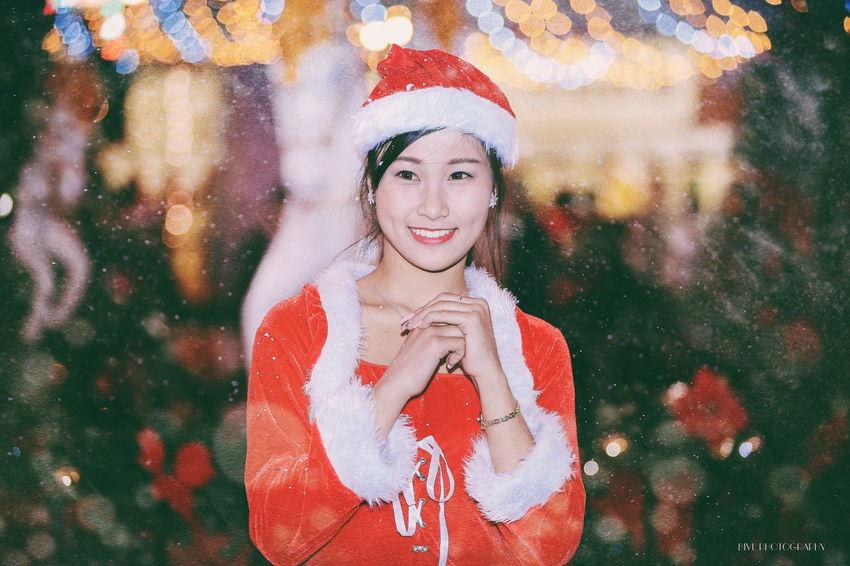 Night Winter Portrait Girls 80200 Canon 6D