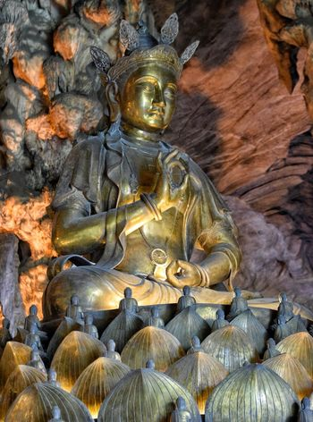 Kek Lok Tong Temple Ipoh Perak Malaysia Religion No People Gold Colored Close-up Day Full Frame Buddhist Temple Buddhism Cave Buddha Statue Statue Gold Golden Spiritual Peaceful Calming Chinese Chinese Temple Chinese Temples Limestone Cave Visit Ipoh