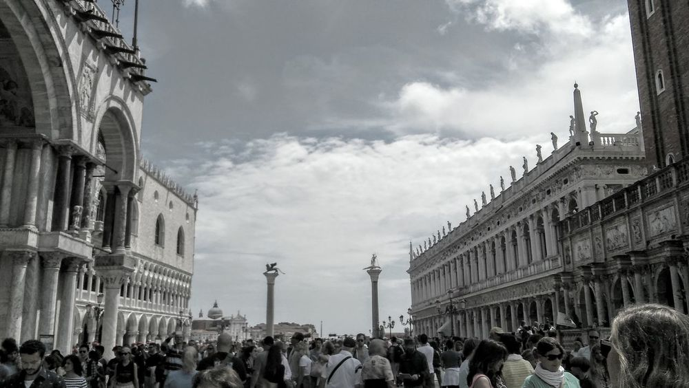 Venice S.marco Showcase June After Rain So Much People