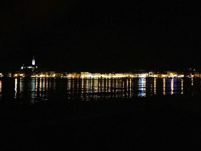 Rovinj Hafen Nacht Wunderschön Croatia