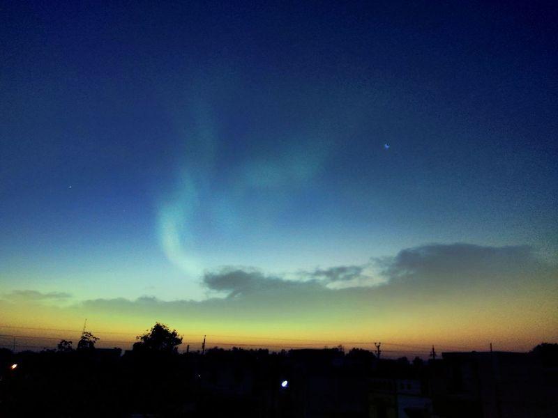 Sunrise Sunshine Sky Nature Silhouette Outdoors Beauty In Nature Bhilai EyeEmNewHere