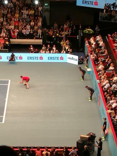 Stadium Fan - Enthusiast Sport Lifestyles Indoors  Adult Large Group Of People Tennis 🎾 Tennis Court Tennislover❤ Tennis Match Vienna, Austria . Dominik Thiem ♥️👍🎾 EyEmNewHere