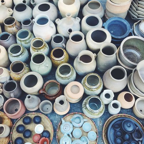 Beautifully Organized Large Group Of Objects Abundance Variation Multi Colored Indoors  Choice Sewing Item Close-up Full Frame Workshop Pottery No People Day From My Point Of View Beauty In Ordinary Things StillLifePhotography EyeEm Best Shots Eyeemphoto Beauty In Nature Enjoying Life Market Stall For Sale