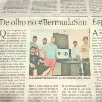 Minha primeira aparição no jornal, primeira de muitas hehe. Matéria feita pelo Jornal do Commercio sobre o movimento BermudaSim Vamo aderir galera! Boldcomunicacao Boldteam