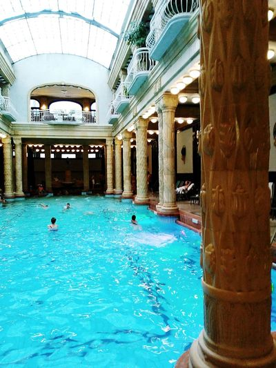 Swimming Pool Water Indoors  Architecture Day Budapest, Hungary Balneario Tourism Architecture People Budapest - Hungary Budapestarchitecture Art Is Everywhere