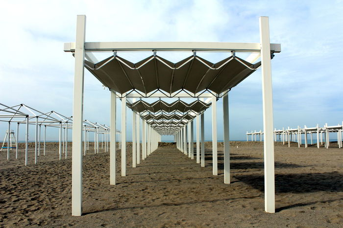 Beach tent in Cinquale, Massa, Italy Beach Beach Photography Beach Tent Beach Time Beachphotography Geometric Geometry Italy Landscape Landscape_Collection Landscape_photography Prospective Sea Sea And Sky Traveling
