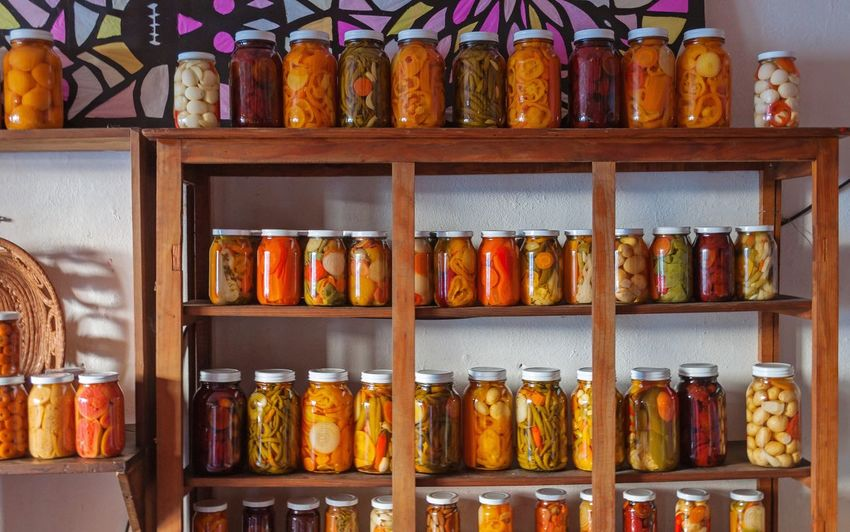 Conservas Retail  Shelf For Sale Large Group Of Objects Jar In A Row Arrangement Indoors  Bottle Store Food No People Multi Colored Choice Variation Day Conservas Frascos De Vidrio Venta Anaquel Carrot Sweet Food