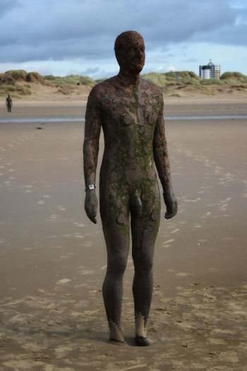 im not a number Sand Full Length Desert Individuality Beach Young Adult Adult Water Front View Standing Portrait People Only Men Arts Culture And Entertainment One Man Only One Person One Young Man Only Men Human Body Part Adults Only Antony Gormley Sculptures