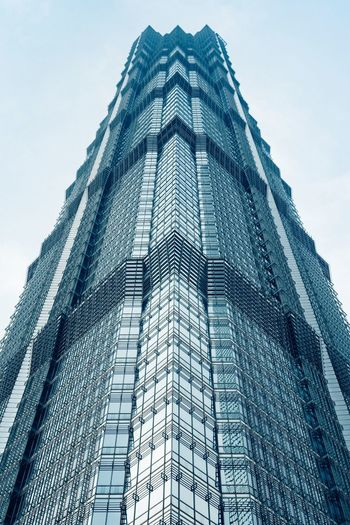 My favorite skyscraper... Arc+ Jin Mao Tower Architecture Architecture_collection Cityscape EyeEm Selects Low Angle View Architecture Built Structure Building Exterior Sky Tall - High Building Modern No People Skyscraper Outdoors Pattern Shape Triangle Shape Tower City