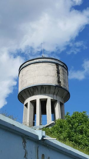 Low Angle View Of Water Tank Against The Sky