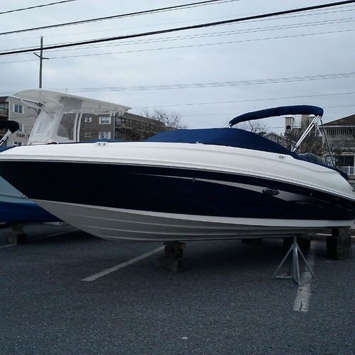 OceanCity Boat Show this weekend, boats getting put on display. Ocmd