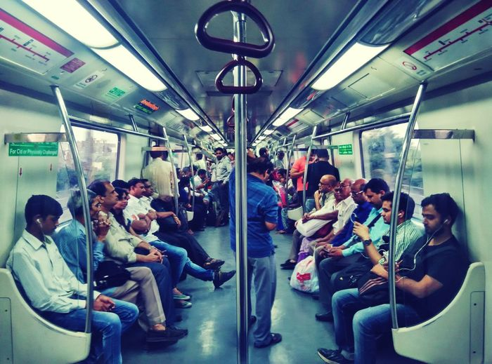 Delhi Metro Transportation Large Group Of People Sitting Public Transportation Travel Mode Of Transport Journey Crowd Relaxation Travelling Person Passenger Standing Rush Hour Commuter Transportation Large Group Of People Men Person Sitting Public Transportation Travel Mode Of Transport Passenger Lifestyles