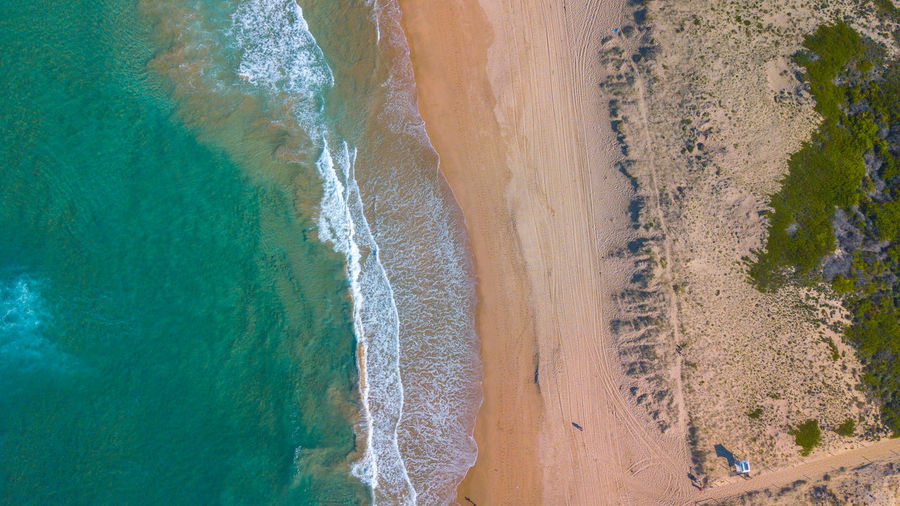 arial view beach Aria Australia Wave Arial View Beach Blue Ocean Sandy