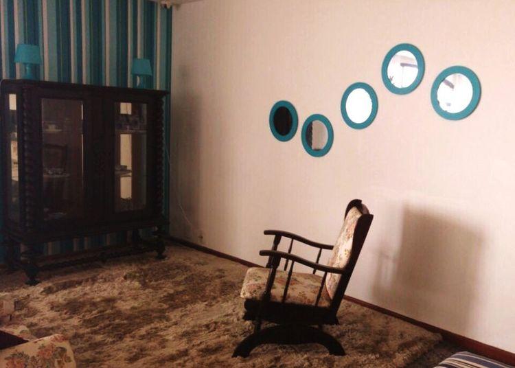 Chair Furniture Indoors  No People Mirrors Circles Wallpaper Carpet Wood Rio Travel Sweden Godaminnen Floor Wall