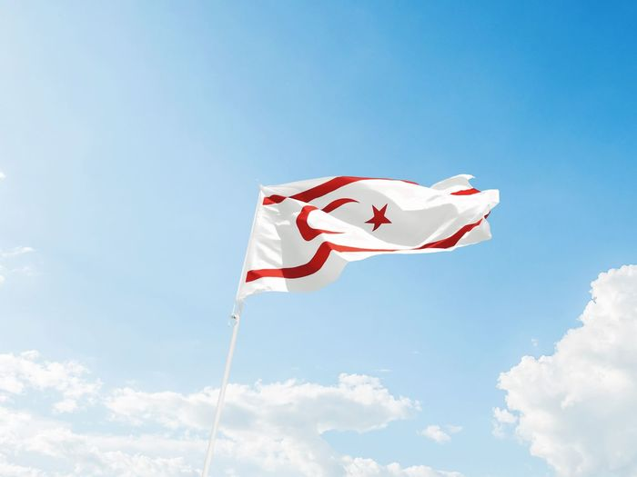 Flag of North Cyprus. Not a very known country, still not recognized by the UN either, yet still exists and function as a proper modern country. Cyprus North Cyprus White Red Trnc Kktc Blue Patriotism Red Flag Sky Cloud - Sky