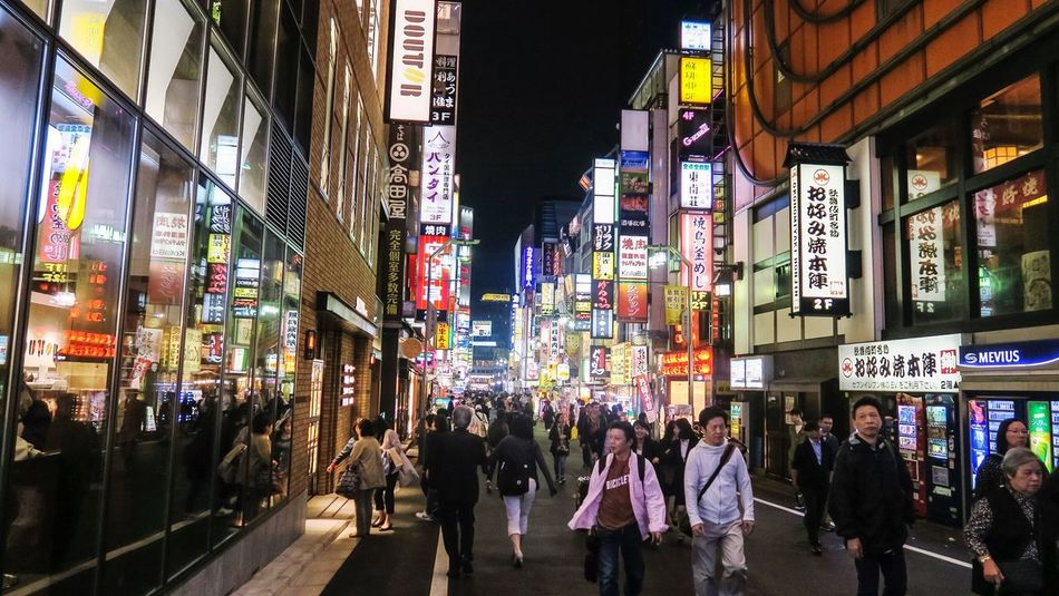 Lights, camera, action! Kabukicho Shinjuku Tokyo Japan TakeoverContrast City City Life Lights Night Night Lights Streetphotography Sign Travel Travel Destinations Famous Place Traveling EyeEm Gallery EyeEm Best Shots Tourism Overnight Success