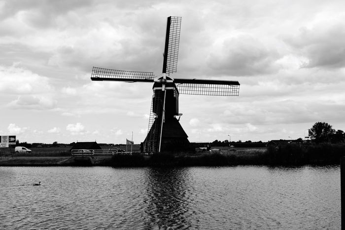 Windmill Old Authentic En Route Nature Outdoors No People Blackandwhite