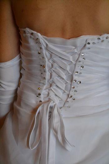Detail Hochzeitsfotografie Hochzeitskleid Part Of Textile Wedding