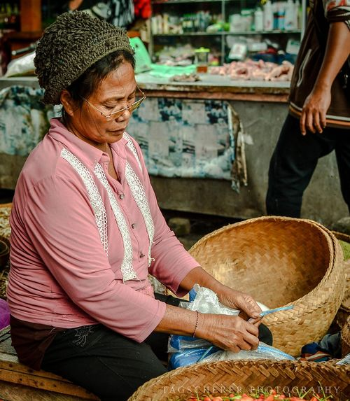 Real People People Working Woman Face Balinese Woman