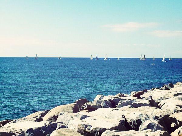 Cielo Barcos Mar