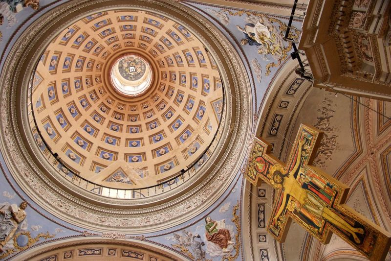 Low angle view of dome of building